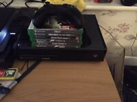 Xbox one 1tb with games and headset