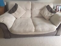 2 seater sofa and sofa bed.