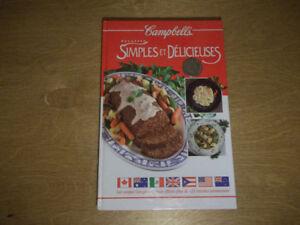 Campbell recettes simple et délicieuse-192 pages-comme neuf