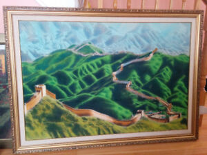 "Large (54"" x 39"")Wall Art - Great Wall of China - Ready to hang"