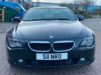 2007 BMW 6 Series 630i Sport 2dr Auto Top Spec Excellent Runner FSH Pan Roof COU