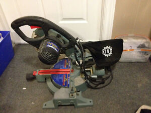 King 8 1/4 sliding compound mitre saw