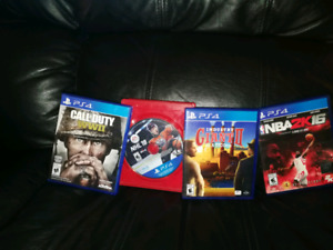 4x PS4 games $40 or trade for other gsmes