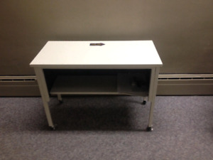 Metal desk and file cabinet