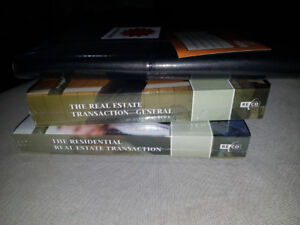 Real Estate Orea Course 3 textbooks and black folder