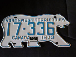 Northwest Territories License Plate  Wolfville Area