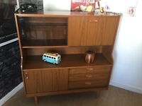 Schreiber cocktail drinks sideboard wall unit cabinet retro Vintage mid century teak - CAN DELIVER