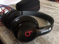 Beats Solo by Dr Dre on ear headphones