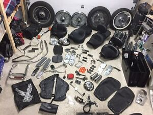 Sieges flh,roues softail,highway pegs pour harley-davidson