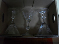 Pinwheel Crystal Martini Glasses Set of 4