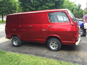 Candy Apple Red 1967 Chevy Van