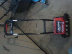 electric power snow thrower