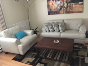 2PC 4-Seater Sofa Set with Coffee Table