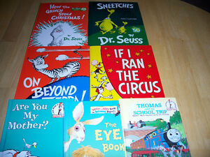 21 HARD COVER Dr. Seuss Books - 4 Larger Seuss Books