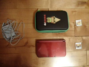 New Nintendo 3ds, Carrying Case,  and 3 games