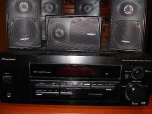 Pioneer 5.1 Surround Sound/Home Theatre Receiver With Speakers