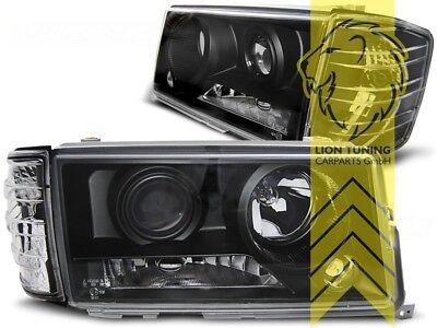 Design Scheinwerfer für Mercedes Benz W201 190E schwarz