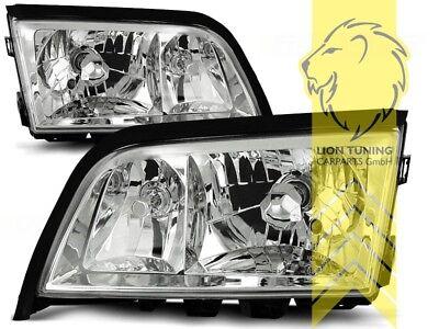 Design Scheinwerfer für Mercedes Benz W202 Limo S202 T-Modell C-Klasse chrom