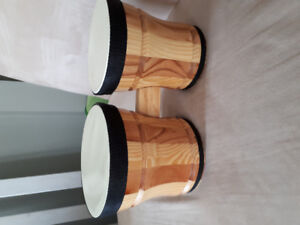 reduced first act solid wooden bongos
