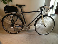 Steel Touring Bike, Shimano Tiagra Triple, Topeak MTX Trunk Bag