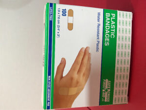 Bandages- water resistant plastic 100 in box