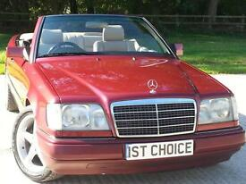 1993 MERCEDES E-CLASS E220 CONVERTIBLE FANTASTIC CONDITION A VERY RARE AND