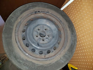 4 Steel Wheels with Tires (P185/65/R15)