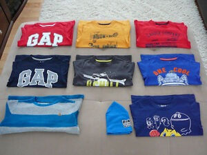 """8 T-shirts m/longues """"GAP"""" (taille 5)"""
