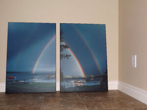 Double Rainbow - 2 Photos - enlarged, mounted