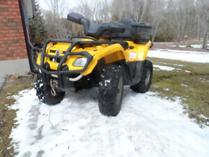 2006 CAN AM Outlander, 2 up Seat, 400 HO, Runs Great, Low Miles.