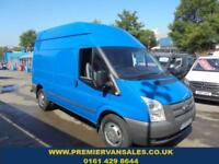 2013 13 FORD TRANSIT 2.2 TDCI, 350 LONG WHEEL BASE, HIGH ROOF, IN BLUE, 6 SPEED,