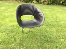 LARGE BLACK BUCKET STYLE CHAIR
