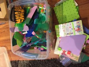 Lot of Ello by lego in bin