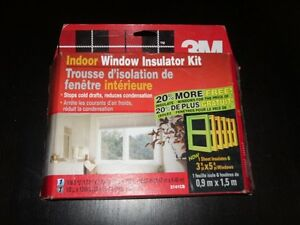 3M Indoor Window Insulator Kit - Brand New