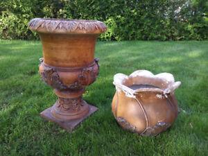 2 pots de fleurs