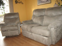 Causeuse et fauteuil inclinable elran