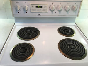 White Electric Stove - Free - 30 inch - Works Great