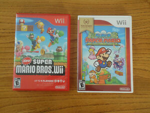 New Super Mario Bros. Wii + Nintendo Select Super Paper Mario
