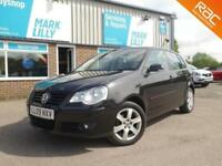 2009 Volkswagen Polo 1.4 ( 80ps ) automatic Match BLACK 5DR 8 SERVICES STUNNING