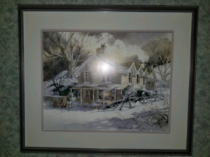 Framed picture  -  winter scene