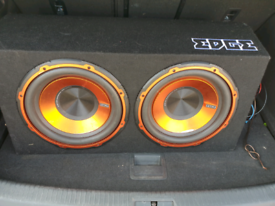 2 x 12 inch Edge subs with built in amp, used for sale  Kings Norton, West Midlands