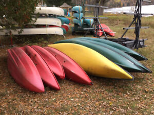 CANOES, KAYAKS, TRAILER and CAMPING EQUIPMENT GREAT VALUE