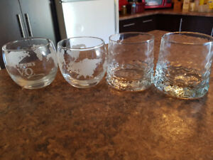 Vintage Seagrams VO & Gibsons Finest Glasses