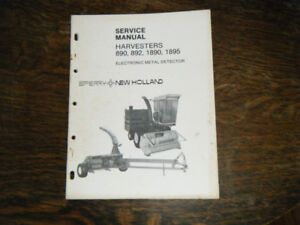 New Holland 890, 892, 1890, 1895 Harvesters Service Manual