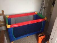 Hauck travel cot and travel mattress