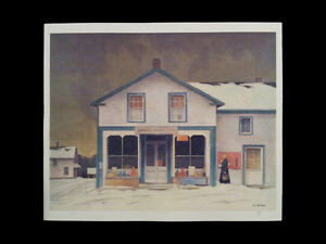 "A.J. Casson ""Annables General Store"" Litho appraised at $1150 London Ontario image 5"
