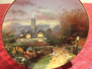 Collector's Plate - Open Gate Cottage by Thomas Kinkade