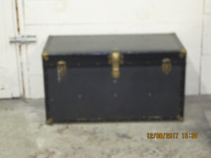 ANTIQUE CHEST WITH LOCK AND KEY
