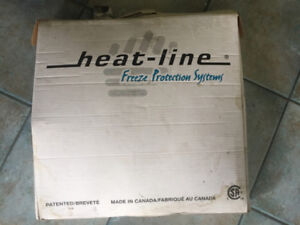 Water line heat cable. Heat-line freeze protection