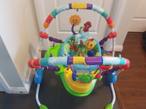 Almost new baby items--fisher price jumper, and walker